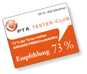 Produkt-Test zur Hydroxyapatit-Zahnpasta APAGARD PREMIO in Deutschland: 73 Prozent der teilnehmenden PTA würden sie auf jeden Fall oder wahrscheinlich empfehlen, und zwar vorrangig (1) Kunden, die anfällig für Karies, weiße Flecken und Zahnverfärbungen sind, (2) Kunden, die nach einer natürlichen Zahnaufhellung fragen, (3) Kunden, die viel Wert auf ihr Erscheinungsbild legen, und (4) Kunden, die Premium-Produkte nachfragen.