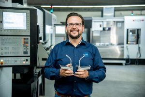Nils Ehm, Geschäftsführer und Inhaber vom mittelständischen Betrieb Wetec Werkzeugbau