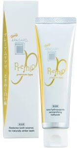 In Fernost seit Jahrzehnten der Marktführer im Premium-Segment: die Hydroxyapatit-Zahnpasta APAGARD PREMIO von SANGI, Tokyo.
