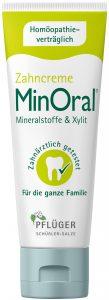 Packshot MinOral® Die apothekenexklusive Zahncreme MinOral enthält wichtige Mineralstoffe und karieshemmendes Xylit. Sie kommt ohne bedenkliche Inhalts- und Zusatzstoffe aus, ist vegan sowie laktose- und glutenfrei.