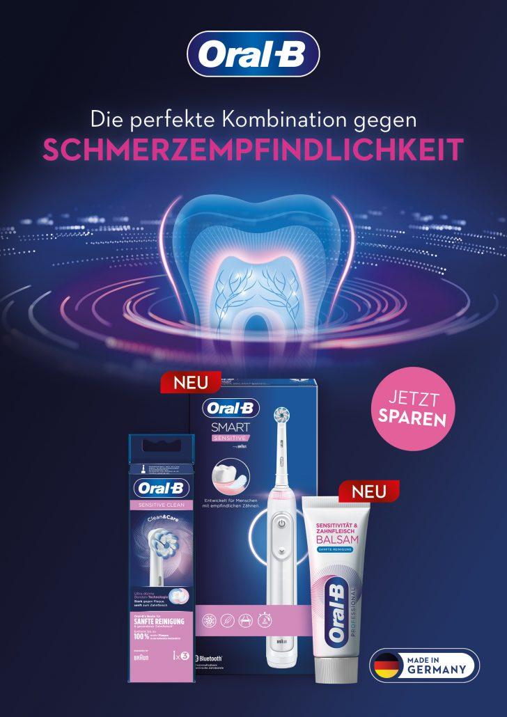 Das einzigartige Trio gegen schmerzempfindliche Zähne von Oral-B