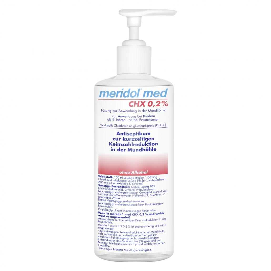 meridol® med CHX 0,2%, 1-Liter-Flasche für die Praxis