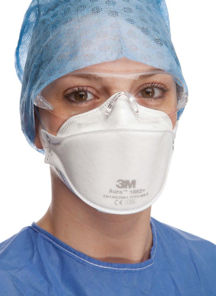 3M Aura 1862+ FFP2 Atemschutzmaske bietet einen guten Sitz, hohen Atemkomfort und zuverlässigen Schutz.