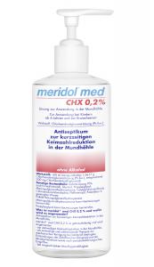 meridol® med CHX 0,2%, 1-Liter-Flasche für die Praxis (Produkt-Paket enthält: 1-Liter-Flasche, Einmaldosierbecher, Pumpe; die Pumpe ist kein Bestandteil der Zulassung)