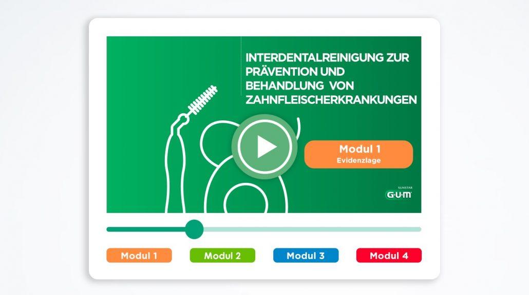 Motiv Video-Thumbnail Virtual Training Interdentalreinigung