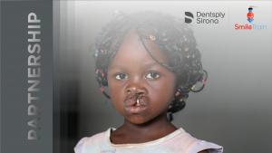 Logo der Partnerschaft zwischen Smile Train und Dentsply Sirona