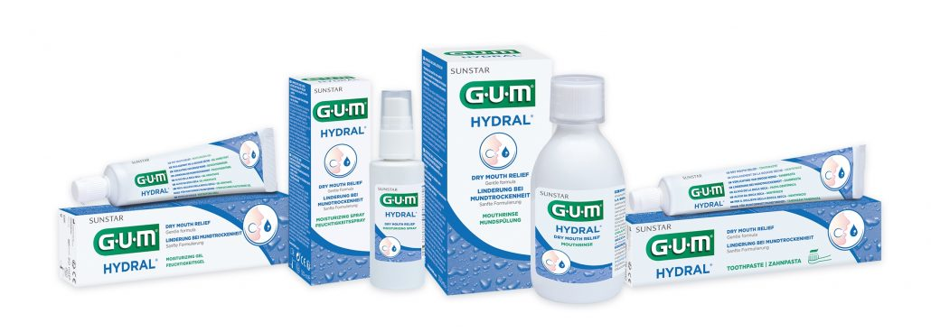 Packshot Produktreihe GUM® HYDRAL®